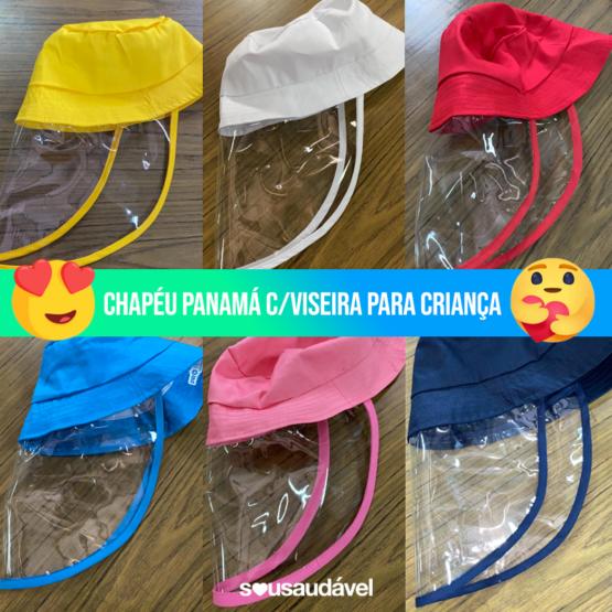 Chapéu Panamá c/ Viseira Pro Tech para Criança