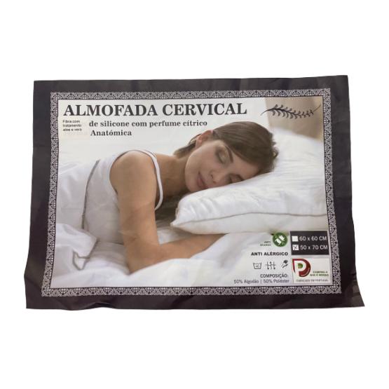 Almofada Cervical de Silicone c/ Perfume Cítrico Anatómica